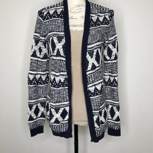 Mossimo Supply Co. Tribal Knit Open Front Cardigan